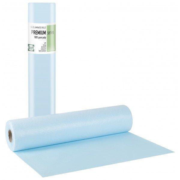 Πλαστικό+χαρτί κόλλα μπλε 58εκ x 50μ. (12 τεμάχια)