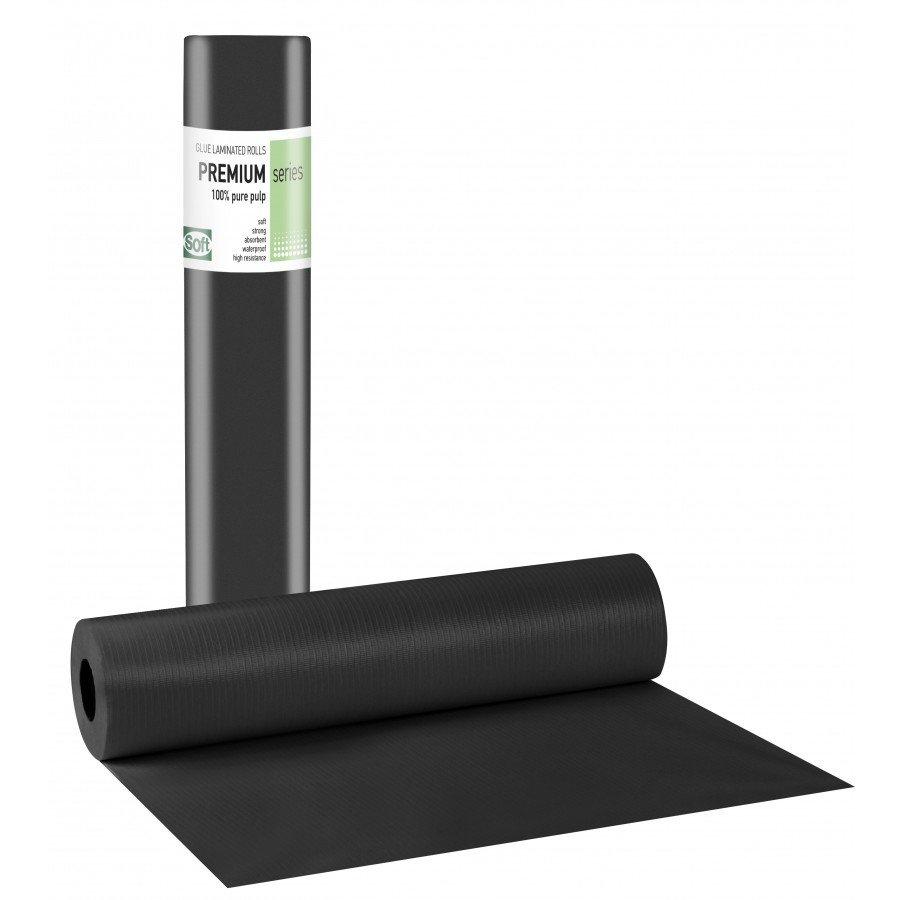 Πλαστικό+χαρτί κόλλα μαύρο 50εκ x 50μ. (12 τεμάχια)