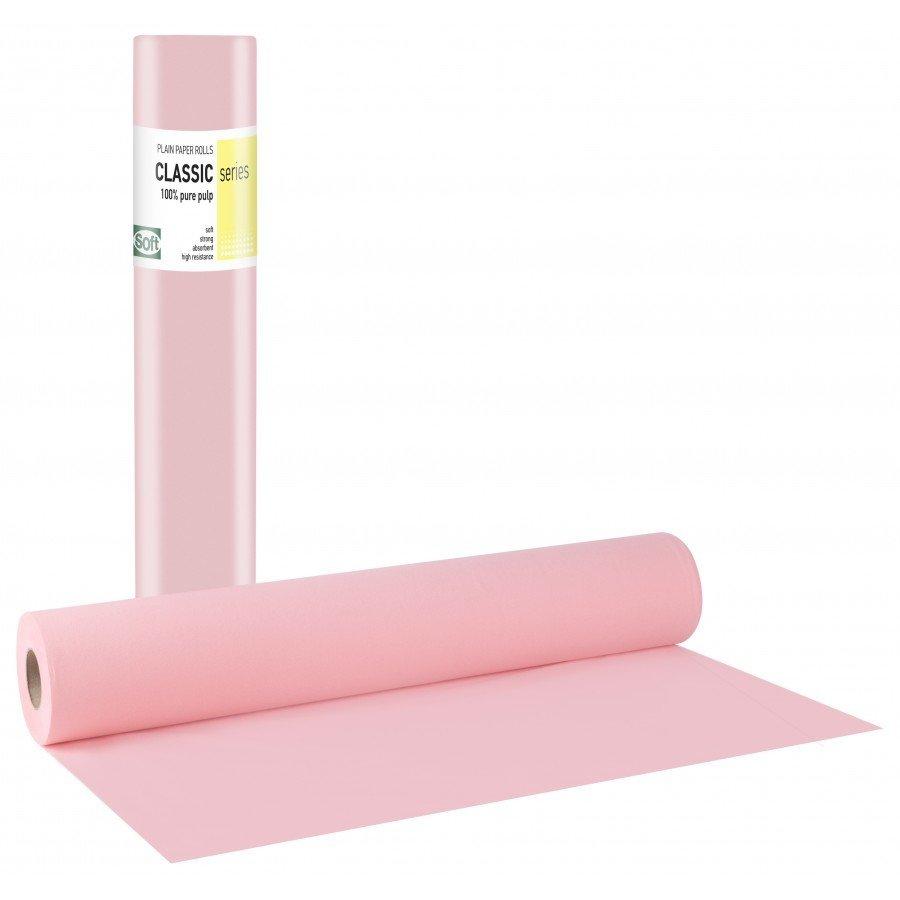 Χάρτινο δίφυλλο 58εκ x 50μ. ροζ (12 τεμάχια)