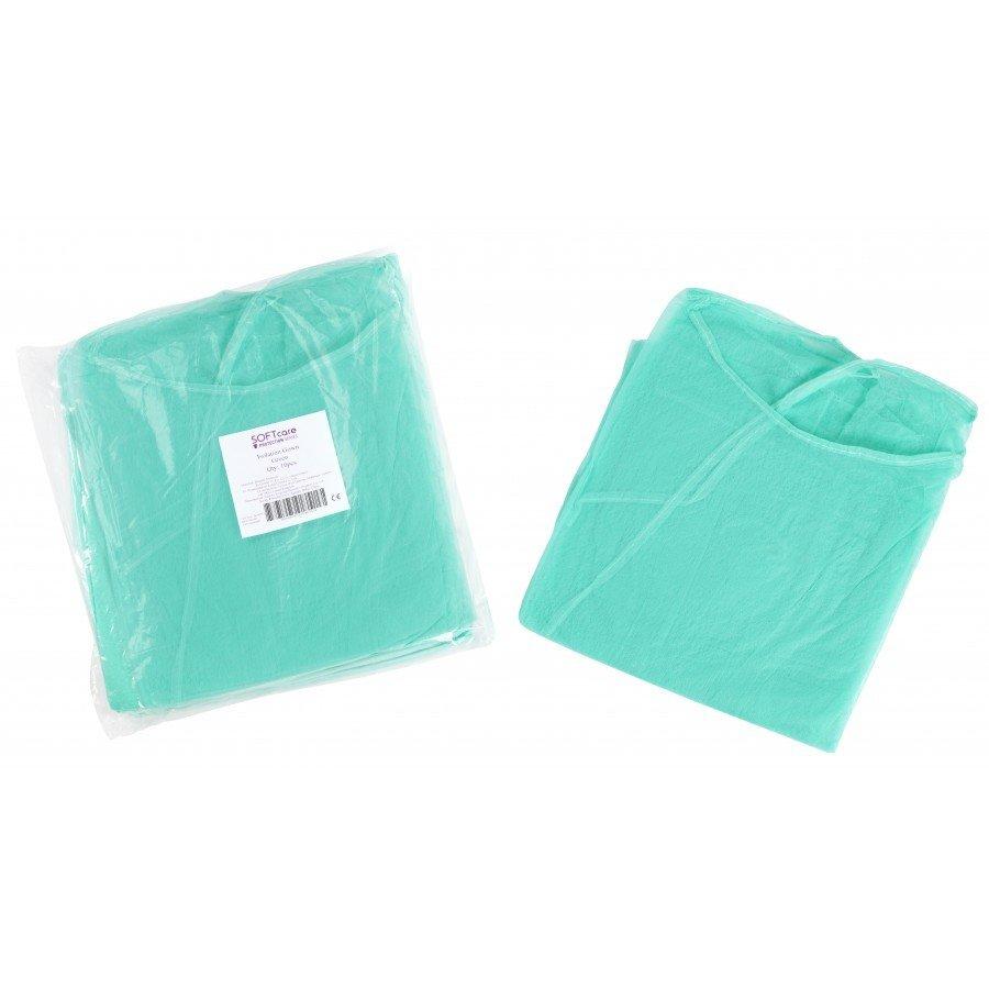 Μπλούζες εξεταστικές non woven 20gr / m2 - 115cm x 137cm (πράσινο)
