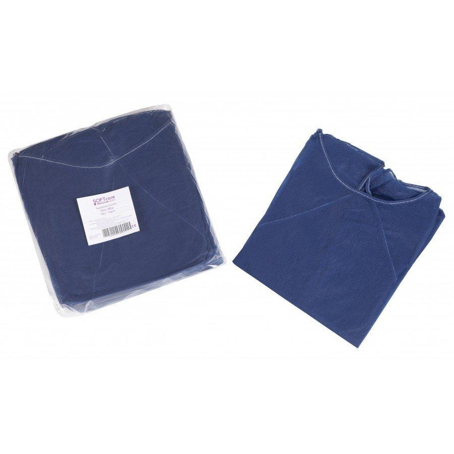 Μπλούζες εξεταστικές non woven 20gr / m2 - 115cm x 137cm (μπλε σκούρο)