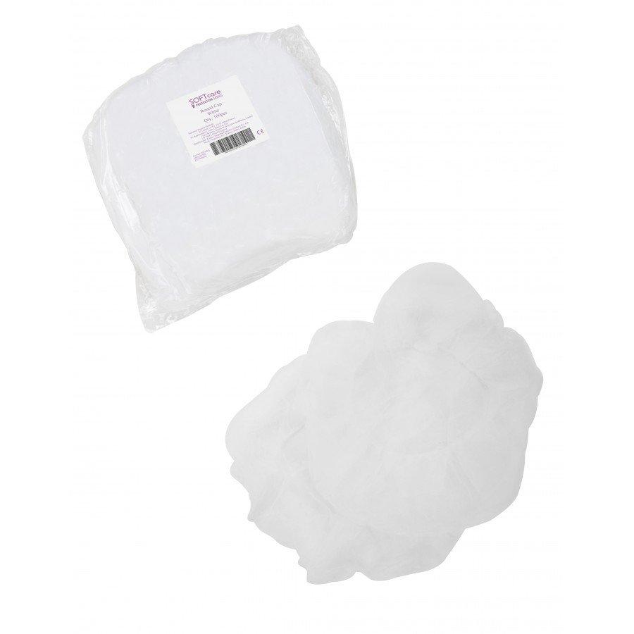 Σκούφια non woven γύρω λάστιχο 21 inches /  Λευκή (100 τεμάχια)