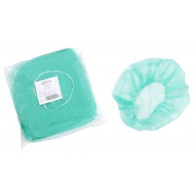 Σκούφια non woven γύρω λάστιχο 21 inches /  Πράσινη (100 τεμάχια)