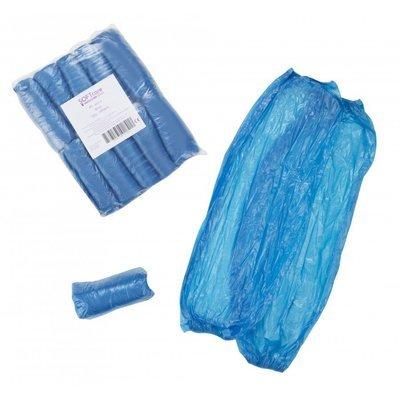 Μανίκια πλαστικά προστασίας μίας χρήσης 3gr, 40 x 22cm / Μπλε (100 τεμάχια)