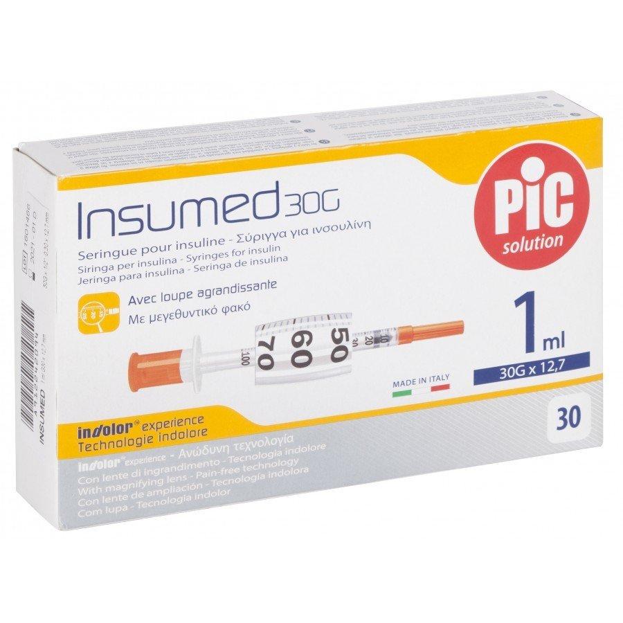 Σύριγγες Pic Ιταλίας 1cc insuline G-30 x ½ (30 τεμάχια)