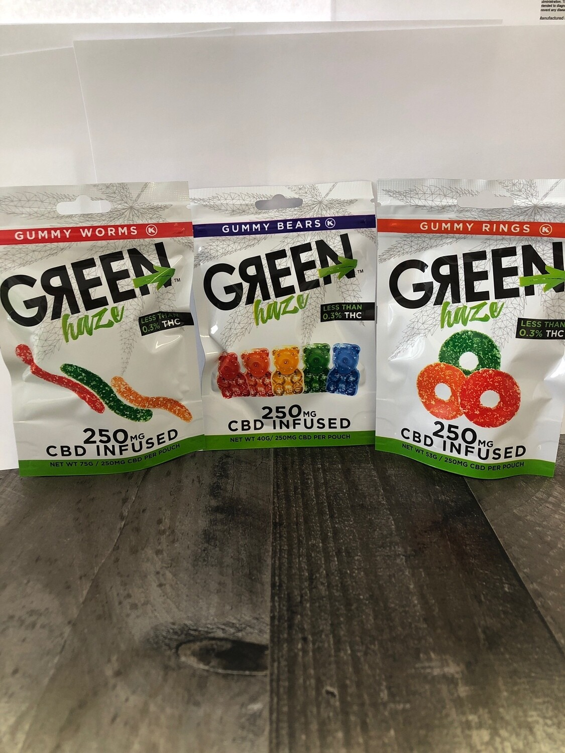 250mg Gummies - 10pc bag