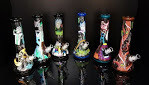RICK AND MORTY *HAND PAINTED* GLOW-IN-THE-DARK WATERPIPE 13.5
