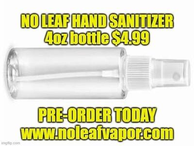 No Leaf Hand Sanitizer 4oz