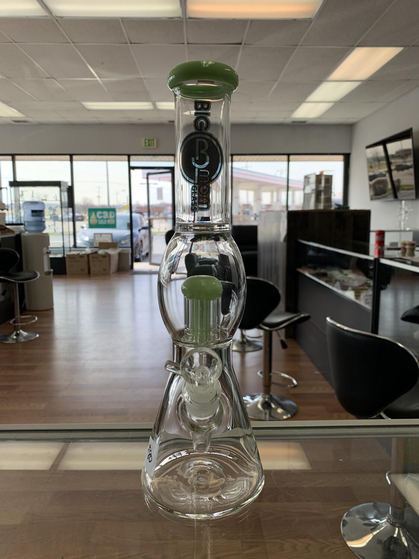 BM Glass Beaker Waterpipe With 8 Tree Perc