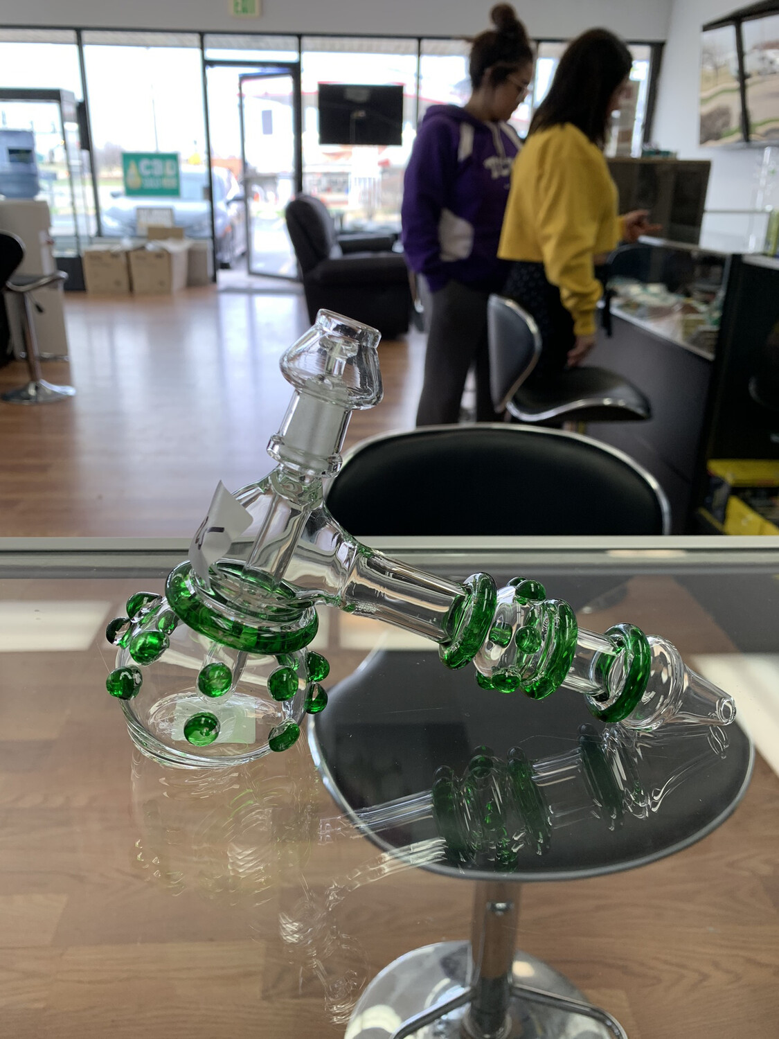 Oil Rig Bubbler With Color Accents