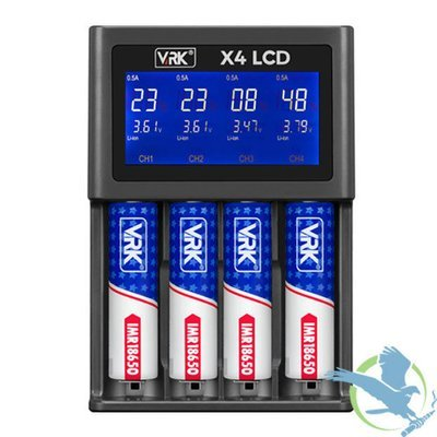 VRK X4 LCD QUAD BAY BATTERY CHARGER