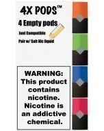 4X PODS 1ML FILLABLE REPLACEMENT PODS FOR JUUL