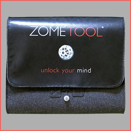 "Zometool Umhängetasche aus Wollfilz ""unlock your mind"""