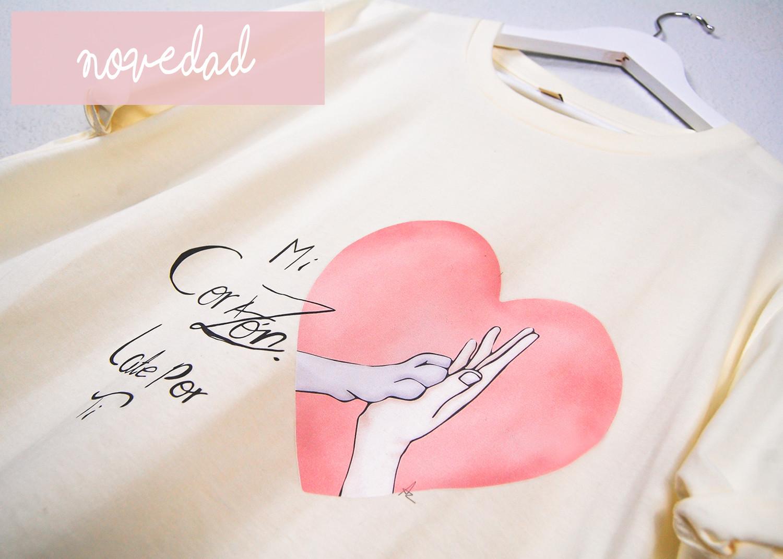 """Camiseta """"Mi corazón late por ti"""""""