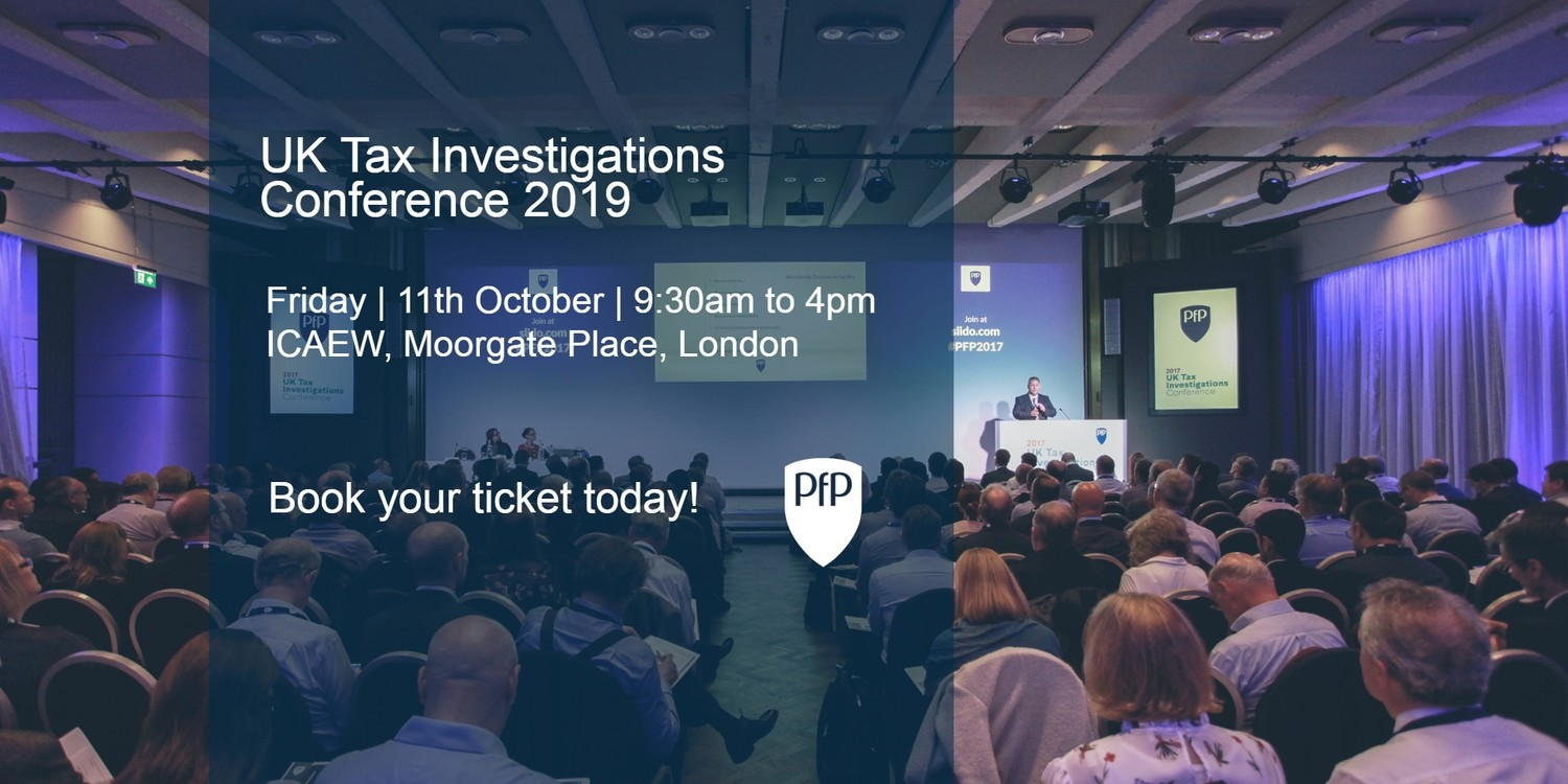 Tax Investigation Conference 2019 - Early Bird Special