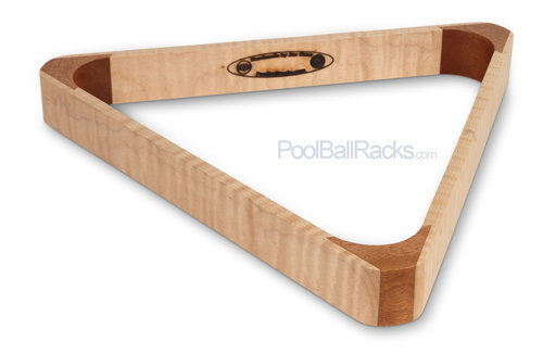 Tiger Maple and Mahogany 15-Ball Rack F447