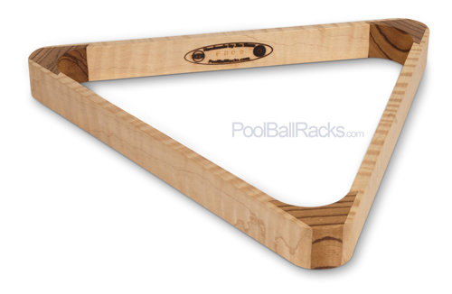 Tiger Maple and Zebrawood 15-Ball Rack F502