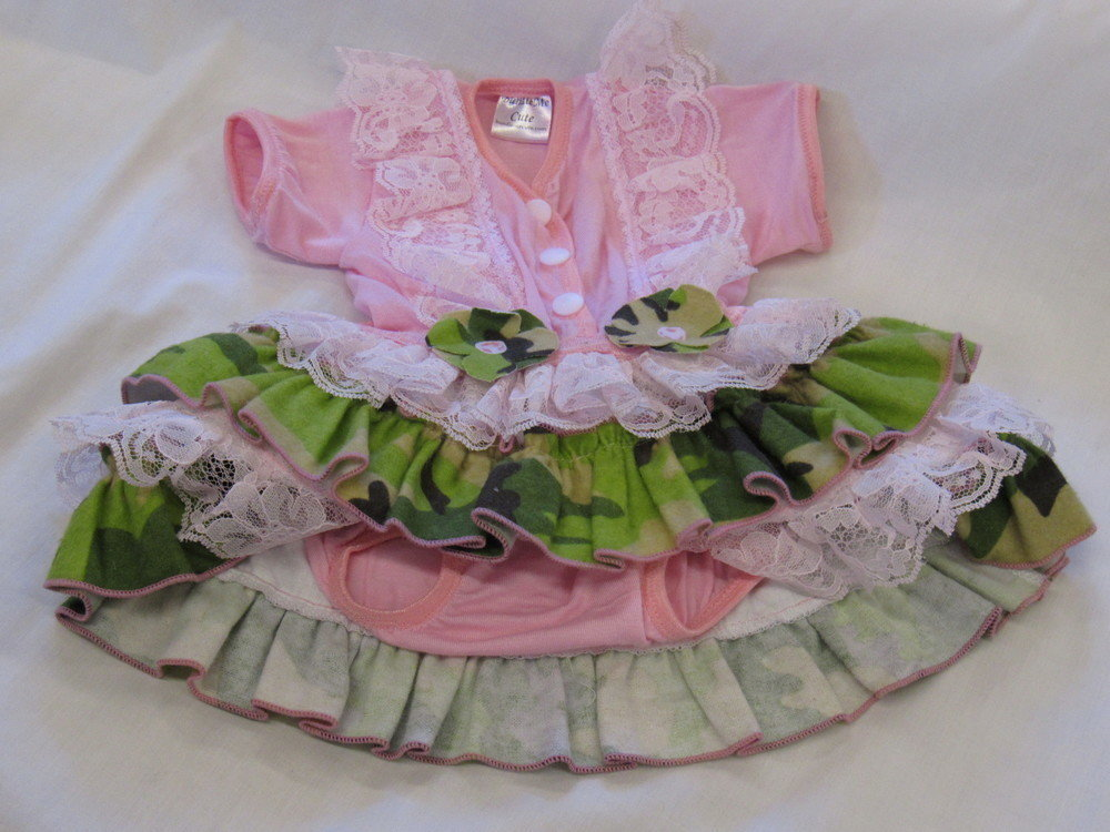 Pink Camo Lace Strap Bodysuit (girl)