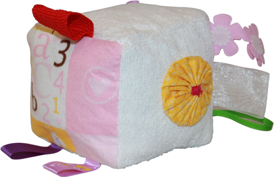 White Plush Blocks (Girl)
