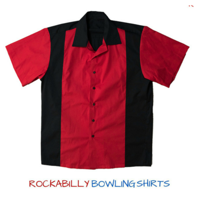 Mens 1950s Retro Bowling Shirt Frank