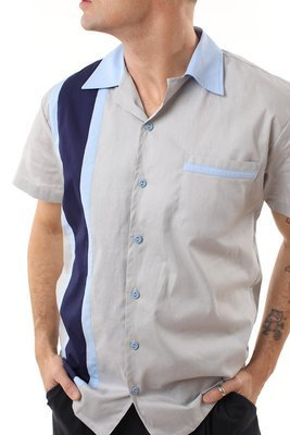 Modern style Rockabilly Bowling Shirt MIKE