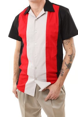 Rockabilly Bowling Shirt GARY (RED)