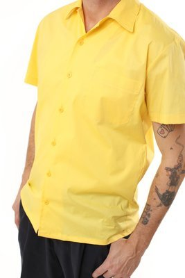 Classic Yellow Retro Bowling Shirt for Rockabillies and Bowlers