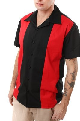 Retro Bowling Shirt RICHARD (Red)