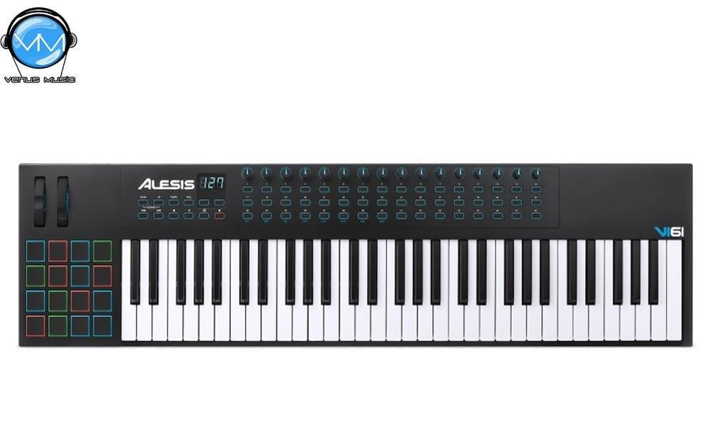 ALESIS VI61 CONTROLADOR USB 61 TECLAS SEMIPESADAS 9809823