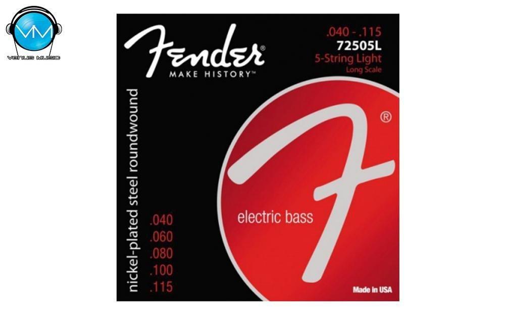 ENCORDADURA BAJO ELÉCTRICO FENDER NICKEL PLATED STEEL 7250-5L 40-115 5 9085320