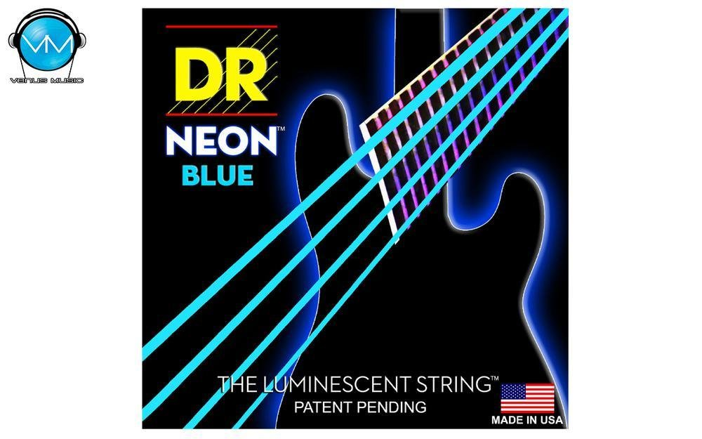 Encordadura DR Bajo 4 cuerdas NEON Blue 45-105 80952390