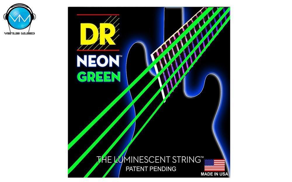 Encordadura DR Bajo 4 cuerdas NEON Green 45-105 859430