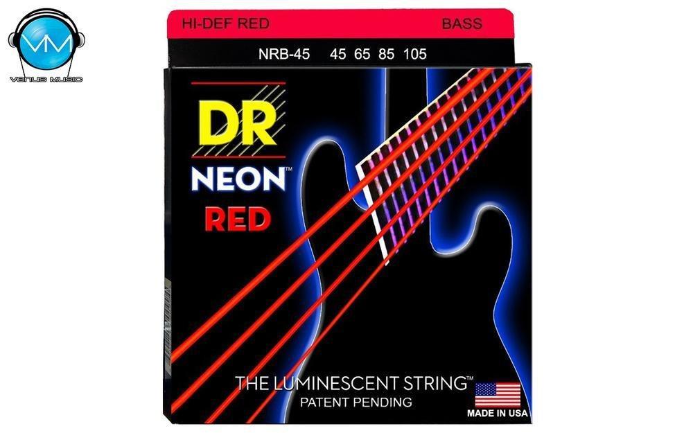 Encordadura DR Bajo 4 cuerdas NEON Red 45-105 9084320