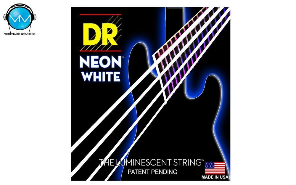 Encordadura  DR Bajo 4 cuerdas NEON White 45-105 879879
