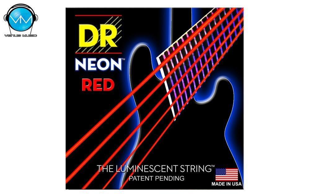 Encordadura DR Bajo 5 cuerdas NEON Red 45-125 905832