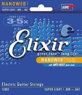 ENCORDADURA ELIXIR NANOWEB SUPER LIGHT .009 - .042 NICKEL