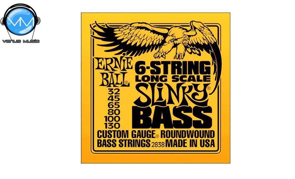 Ernie Ball 2838 Slinky Encordadura Bajo Eléctrico 6 Cdas. LS 28380043