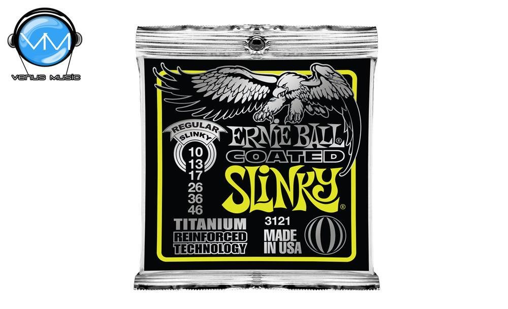 Ernie Ball 3121 Slinky Encordadura Guit. Eléctrica Reg. Coated 3121995