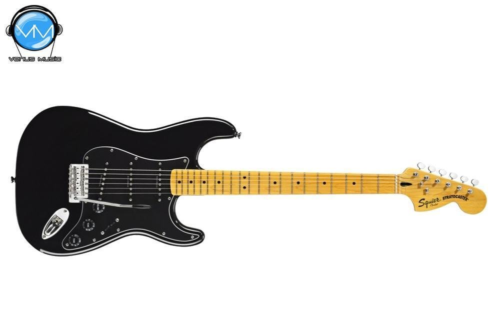 Fender Squier Vintage Modified 70s Black Strat Guitarra Eléctrica