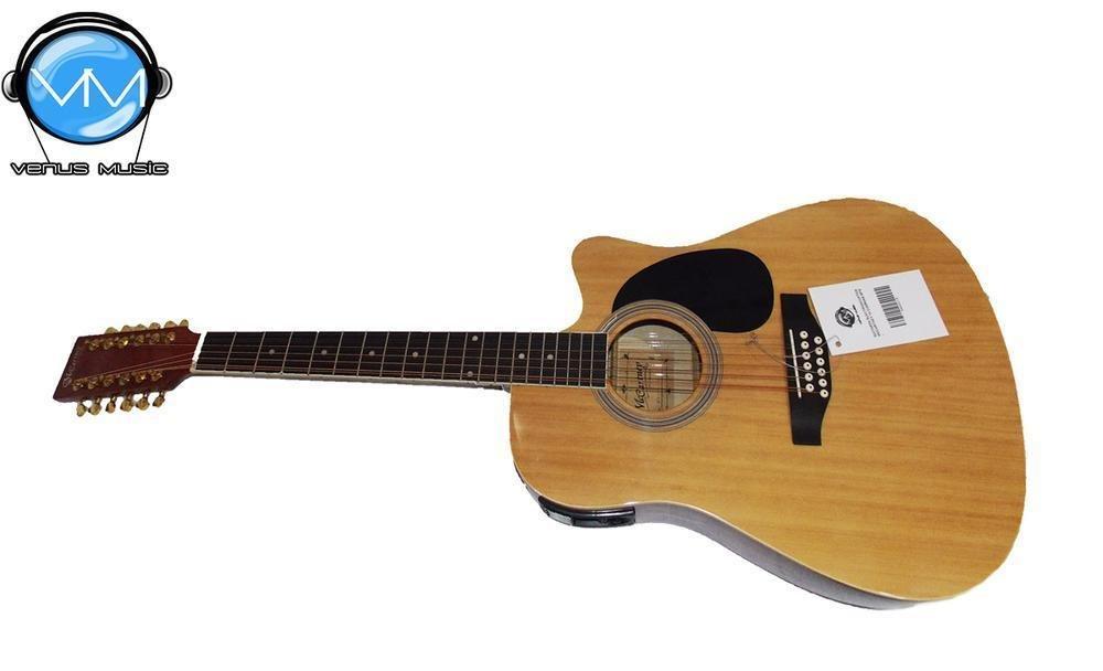 Guitarra Electroacústica McCartney 12 Cuerdas Natural
