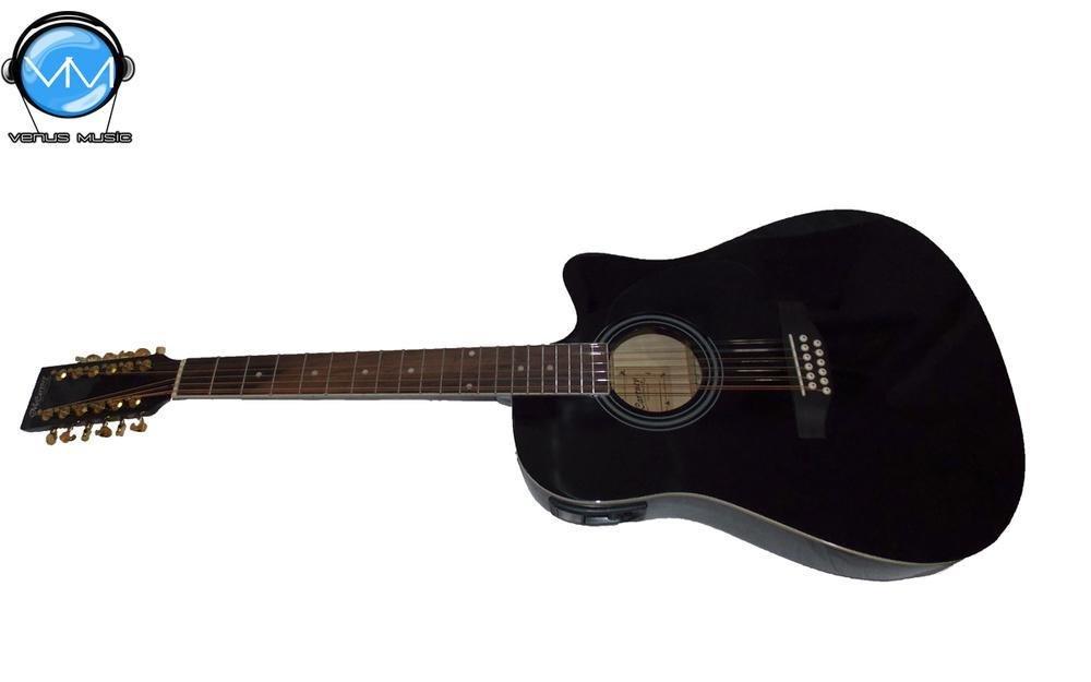 Guitarra Electroacústica McCartney 12 Cuerdas Negra 9998666