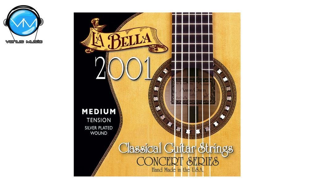 LA BELLA 2001ME Encordadura Guit. Clásica Tensión Med.