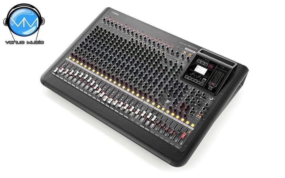 Mezcladora de 24 canales con efectos digitales EQ gráfico y conexión USB MGP24X