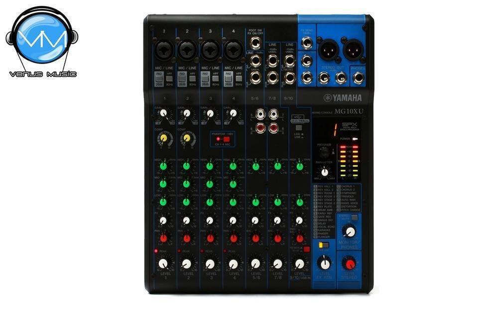 Mezcladora Yamaha de 10 canales con efectos y USB MG10XU