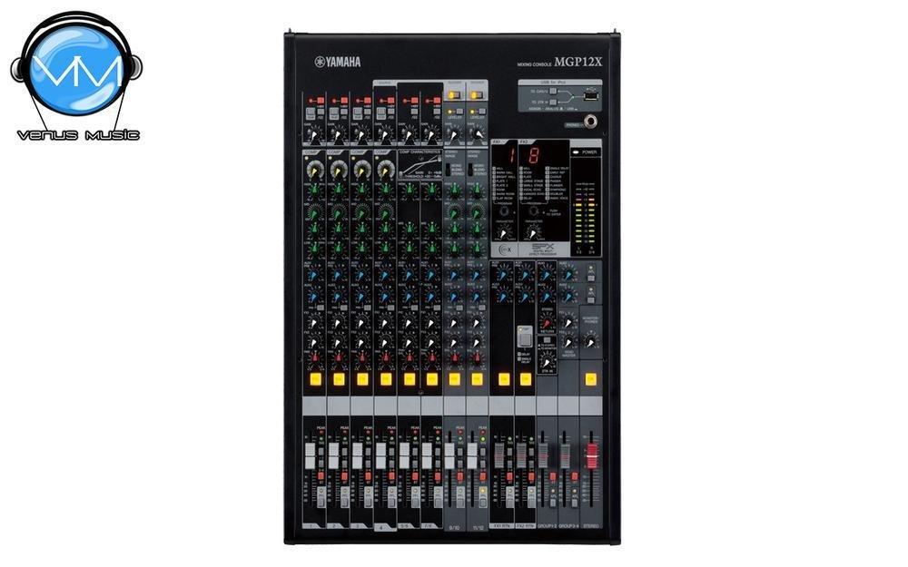 Mezcladora Yamaha de 12 canales con efectos digitales y conexión USB MGP12X 9704232