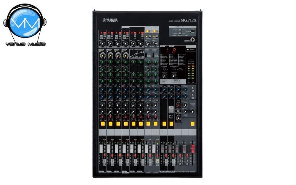 Mezcladora Yamaha de 12 canales con efectos digitales y conexión USB MGP12X