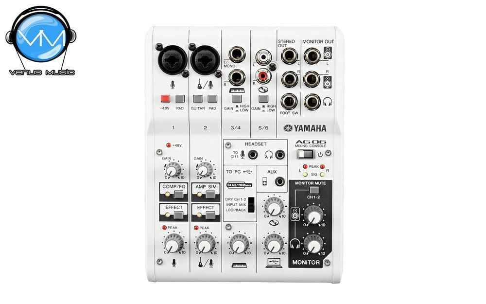 Mezcladora Yamaha de 6 canales con FX y conexión USB AG06 23909523