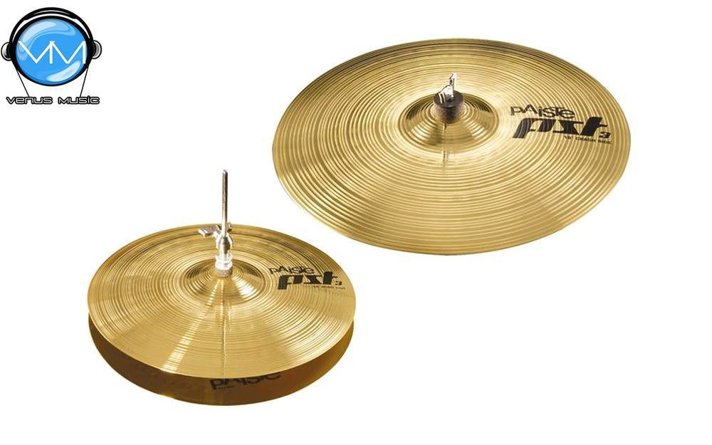 "PAISTE 063ES14 PST 3 ESSENTIAL PLATILLO SET W / 14"" HI-HAT y 18"" CRASH 141803"