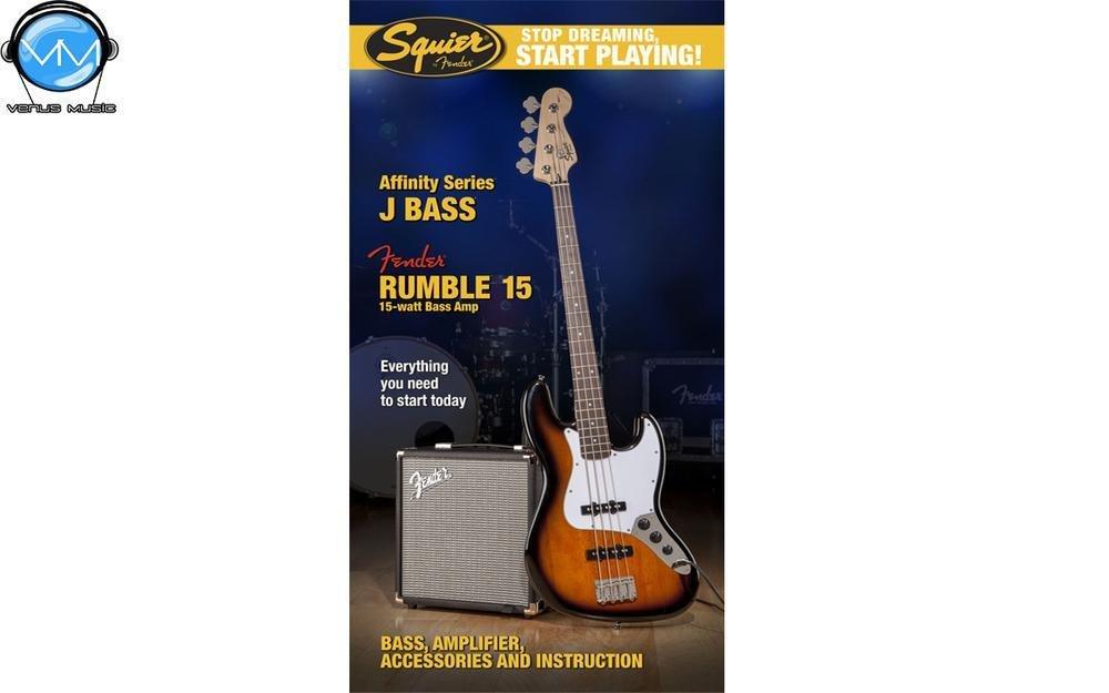 Paquete Fender Squier Affinity Series™ Jazz Bass® con amplificador Rumble™ 15 98502392