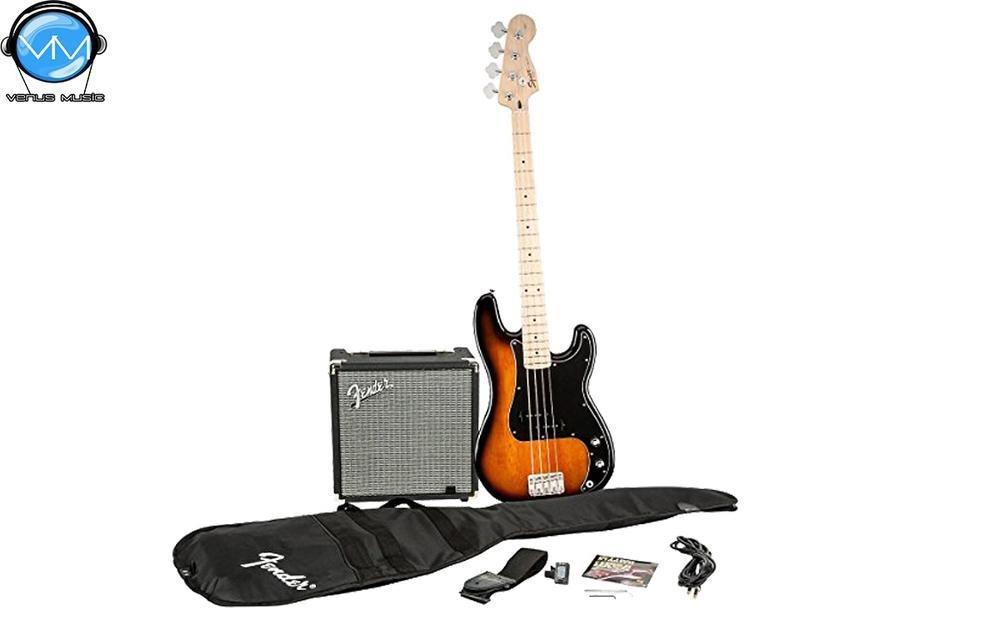 Paquete Squier Affinity Precision Bass y amplificador Rumble 15 805928352